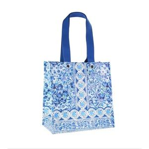 Lilly Pulitzer Market Tote Blue High Maintenance